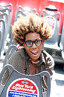 "Macy Gray at the unveiling of the ""Macy Gray"" Gray Line Bus at 777 8th Avenue on May 18, 2012 in New York City. © Kristen Driscoll / Mediapunch Inc."