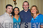 Mary and Mark Corkery, Kilflynn  with Patrick and Ellen Burns, Ballyduff, Pose for a photo at the annual gourmet evening at Kilcooley's restaurant Ballybunion on Saturday night..