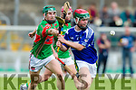 Keane's Super Valu Minor Hurling Championship semi-finals: Crotta O'Neill's vs St. Brendan's at Austin Stack Park on Saturday. Pictured crotta's Eamonn Shanahan and Brendan's Darragh Hogan