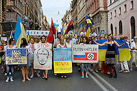 Manifestazione  per la pace  in Ucraina a Roma