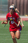 Torrance, CA 05/11/13 - Julie Crowell (Los Alamitos #8) during the 2013 Los Angeles/Orange County Championship game between Los Alamitos and Agoura.  Los Alamitos defeated Agoura 19-4.