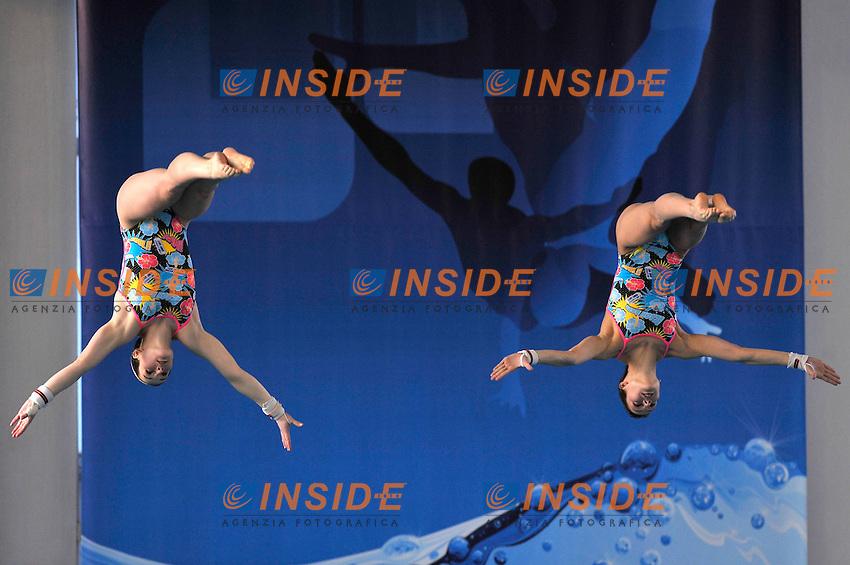 Nora Subschinski e Christin Neuer (GER) medaglia d'argento<br /> Piattaforma 10m Synchro Femminile - Finale<br /> Campionati Europei di Tuffi Torino 2011<br /> Torino, 10/03/2011<br /> &copy; Giorgio Perottino / Insidefoto