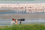 Art Wolfe in the field, Lake Bogoria, Kenya