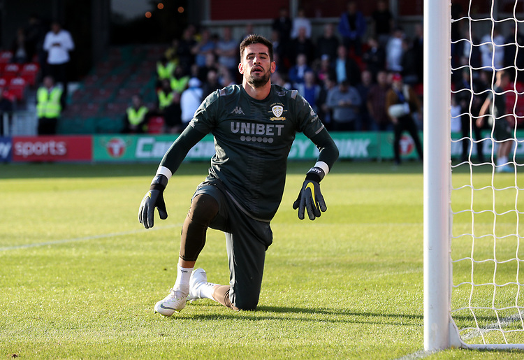 Leeds United's Kiko Casilla<br /> <br /> Photographer Alex Dodd/CameraSport<br /> <br /> The Carabao Cup First Round - Salford City v Leeds United - Tuesday 13th August 2019 - Moor Lane - Salford<br />  <br /> World Copyright © 2019 CameraSport. All rights reserved. 43 Linden Ave. Countesthorpe. Leicester. England. LE8 5PG - Tel: +44 (0) 116 277 4147 - admin@camerasport.com - www.camerasport.com