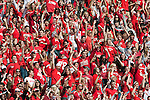 Wisconsin Badgers fans cheer during an NCAA college football game against the Austin Peay Governors on September 25, 2010 at Camp Randall Stadium in Madison, Wisconsin. The Badgers beat the Governors 70-3. (Photo by David Stluka)