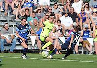 Kansas City, MO - Saturday June 25, 2016:  Alex Arlitt, Havana Solaun, Erika Tymrak during a regular season National Women's Soccer League (NWSL) match at Swope Soccer Village.
