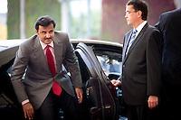 Der Emir des Staates Katar, Scheich Tamim bin Hamad bin Khalifa al Thani.<br /> kommt am Mittwoch (17.09.14) in Berlin im Bundeskanzleramt an. Foto: Axel Schmidt/CommonLens