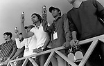 INDIA Maharashtra Mumbai Bombay, youngster take cell phone photos during sports event / INDIEN Mumbai, Jugendliche machen Fotos mit Mobiltelefon waehrend einer Sportveranstaltung - copyright Joerg Boethling, Also as signed black&white fine print available.
