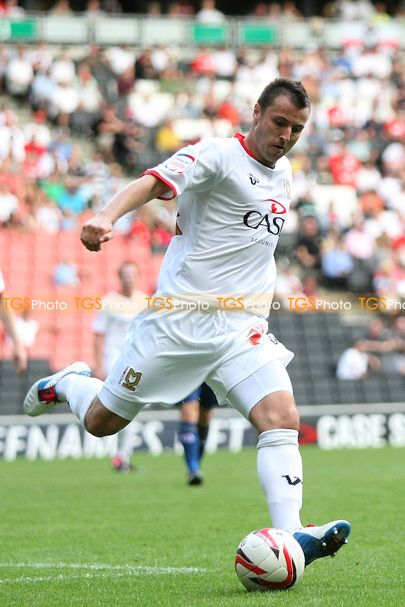 Antony Kay of MK Dons- MK Dons vs Oldham Athletic - NPower League One Football at Stadium MK, Milton Keynes - 18/08/12 - MANDATORY CREDIT: George Phillipou/TGSPHOTO - Self billing applies where appropriate - 0845 094 6026 - contact@tgsphoto.co.uk - NO UNPAID USE.