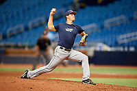 Joe Ryan (14) delivers a pitch during the Tampa Bay Rays Instructional League Intrasquad World Series game on October 3, 2018 at the Tropicana Field in St. Petersburg, Florida.  (Mike Janes/Four Seam Images)