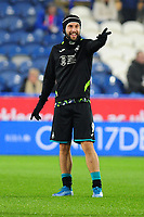 Borja Baston of Swansea City during the pre-match warm-up for the Sky Bet Championship match between Huddersfield Town and Swansea City at The John Smith's Stadium in Huddersfield, England, UK. Tuesday 26 November 2019
