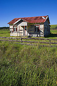 An old derelict house  on State Highway 10 at Kareponia, not far from Awanui.Far North. Northland, New Zealand.