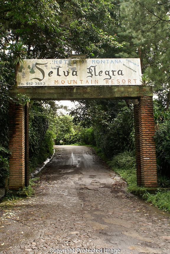 Entrance to Finca Selva Negra near Metagalpa, Nicaragua