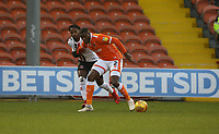 Blackpool's Donervon Daniels and Charlton Athletic's Tariqe Fosu<br /> <br /> Photographer Stephen White/CameraSport<br /> <br /> The EFL Sky Bet League One - Blackpool v Charlton Athletic - Saturday 8th December 2018 - Bloomfield Road - Blackpool<br /> <br /> World Copyright &copy; 2018 CameraSport. All rights reserved. 43 Linden Ave. Countesthorpe. Leicester. England. LE8 5PG - Tel: +44 (0) 116 277 4147 - admin@camerasport.com - www.camerasport.com