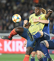 YOKOHAMA - JAPON, 22-03-2019: Duvan Zapata de Colombia en acción durante partido amistoso de la fecha FIFA marzo 2019 entre las selecciones de Japón y Colombia jugado en el estadio Nissan de la ciudad de Yokohama. / Duvan Zapata of Colombia in action during friendly match for the FIFA date March 2019 between national teams of Japan and Colombia played at Nissan stadium in Yokohama city. Photo: VizzorImage / VizzorImage / Julian Medina / Cont