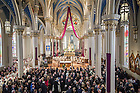 Mar. 4, 2015; The funeral Mass of President Emeritus Rev. Theodore M. Hesburgh, C.S.C., in the Basilica of the Sacred Heart. (Photo by Barbara Johnston/University of Notre Dame)