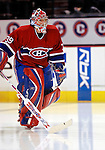 3 February 2007: Montreal Canadiens goaltender Cristobal Huet of France takes to the ice prior to facing the New York Islanders at the Bell Centre in Montreal, Canada. The Islanders defeated the Canadiens 4-2.