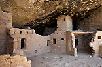 Anasazi ruins at Spruce Tree House, Mesa Verde National Park, Colorado, USA