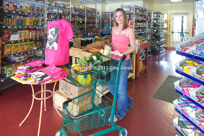 Laurel Meskiman in Mountain Harvest Market, in Strawberry Village Shopping Center