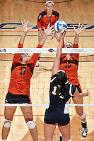 SAN ANTONIO, TX - OCTOBER 4, 2013: The Florida International University Panthers versus the University of Texas at San Antonio Roadrunners Volleyball at the UTSA Convocation Center. (Photo by Jeff Huehn)