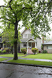 CANADA, Vancouver, British Columbia, street view in a Westside neighborhood of Vancouver, Kitsilano