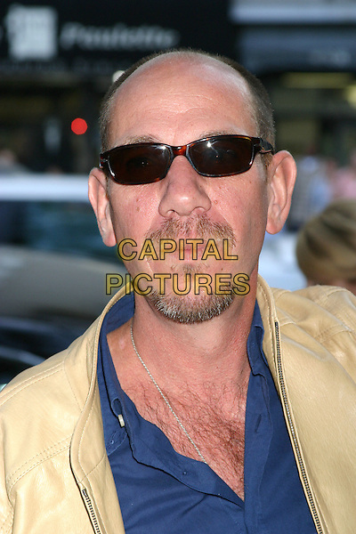 "MIGUEL FERRER.""The Manchurian Candidate"" New York Premiere - Outside Arrivals. Clearview Cinema's Beekman Theatre.New York City, New York..July 19, 2004 .headshot, portrait, sunglasses, shades, chest hair, facial hair, mustache, goatee, bald.www.capitalpictures.com.sales@capitalpictures.com.Supplied by Capital Pictures"