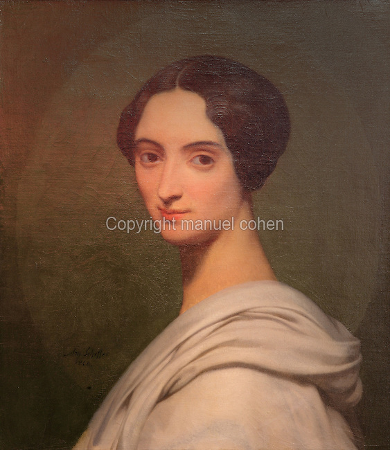 Portrait of the Comtesse de Gobineau,<br /> 1850, by Ary Scheffer, 1795-1858, Dutch-French painter, in Le MUDO, or the Musee de l'Oise, Beauvais, Picardy, France. Picture by Manuel Cohen
