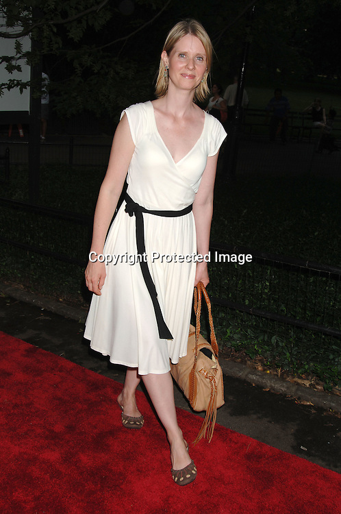 Cynthia Nixon..arriving at The Public Theatre's Summer Gala honoring Kevin Kline and Meryl Streep at The Opening NIght of MacBeth at Shakespeare in the Park on June 28, 2006. ..Robin Platzer, Twin Images