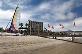 USA, California, San Diego, beach out front of the Catamaran Hotel