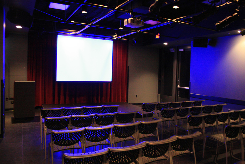 Piano Row, Multipurpose Room, equipment, lighting, projector