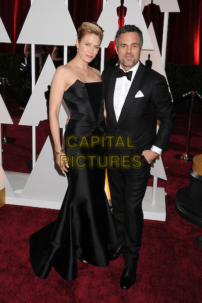HOLLYWOOD, CA - FEBRUARY 22:  Actor Mark Ruffalo (R) and Sunrise Coigney arrive at the 87th Annual Academy Awards at Hollywood &amp; Highland Center on February 22, 2015 in Hollywood, California.<br /> CAP/ROT/TM<br /> &copy;TM/ROT/Capital Pictures