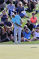 Bill Haas (USA) chips onto the 8th green during Saturday's Round 3 of the Waste Management Phoenix Open 2018 held on the TPC Scottsdale Stadium Course, Scottsdale, Arizona, USA. 3rd February 2018.<br /> Picture: Eoin Clarke | Golffile<br /> <br /> <br /> All photos usage must carry mandatory copyright credit (&copy; Golffile | Eoin Clarke)