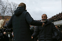 Wolverhampton Wanderers Manager Nuno Espirito Santo.  and Graham Potter Head Coach of Brighton & Hove Albionduring Wolverhampton Wanderers vs Brighton & Hove Albion, Premier League Football at Molineux on 7th March 2020
