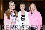 Trease O'Brien, Audrey Moran and Brenda Lynch enjoying the Bon Jovee Tribute Band Fundraiser in The Brandon Hotel on Saturday night.