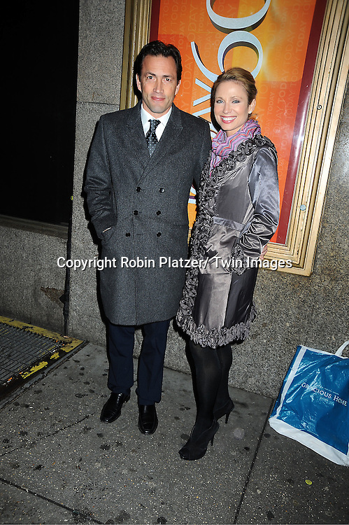 Andrew Shue and wife Amy Robach attends The Today Show's 60th Anniversary celebration party on January 12, 2012 at The Edison Ballroom in New York City.