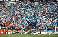 Olympique de Marseille fans wait for there start of the UEFA Europa League final football match between Olympique de Marseille and Club Atletico de Madrid at the Groupama Stadium in Decines-Charpieu, near Lyon, France, May 16, 2018.<br /> UPDATE IMAGES PRESS/Isabella Bonotto