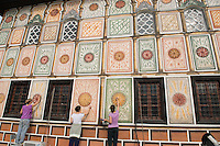 Workers at the Colored Mosque, Tetovo, Macedonia, Western Balkans, Europe
