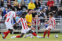 Kieran Bernard #5, Jeff Cosgriff...AC St Louis were defeated 1-2 by Austin Aztek in their inaugural home game in front of 5,695 fans at Anheuser-Busch Soccer Park, Fenton, Missouri.