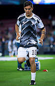 12th September 2017, Camp Nou, Barcelona, Spain; UEFA Champions League Group stage, FC Barcelona versus Juventus; Paulo Dybala of Juventus during the warm up