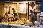 Weihnachtskrippe in der Krippenwerkstatt von Klaus Brandl in Vaduz, Liechtenstein. <br /> <br /> Foto: Paul J. Trummer