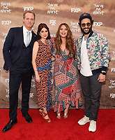 "LOS ANGELES, CA - APRIL 3: (L-R) Cast members Chris Geere, Aya Cash, Kether Donohue and Desmin Borges attend the FYC Red Carpet event for the series finale of FX's ""You're the Worst"" at Regal Cinemas L.A. Live on April 3, 2019 in Los Angeles, California. (Photo by Frank Micelotta/FX/PictureGroup)"