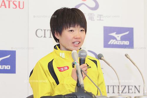 Azusa Nojiri (Daiichi Seimei), JANUARY 29, 2012 - Marathon : 2012 Osaka International Ladies Marathon, Start & Goal Nagai Stadium in Osaka, Japan. (Photo by Akihiro Sugimoto/AFLO SPORT) [1080]