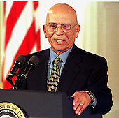 King Hussein of Jordan speaks during the signing ceremony for the Wye River Accords at the White House in Washington, D.C. on October 23, 1998..Credit: Ron Sachs / CNP