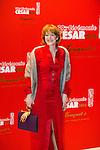 Agnes Soral arrive au Fouquets pour le repas après les César 2014, Restaurant le Fouquet's
