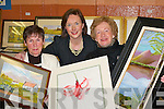 EXHIBITION: Talented Killarney artists Annette Sheehan, Elaine Murphy and Eileen Murphy with their work at the Killarney Community College Art Exhibition in the college last Thursday night.   Copyright Kerry's Eye 2008