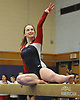 Erin Agoglia of South Side performs on the balance beam during a Nassau County varsity gymnastics meet against Massapequa at McKenna Elementary School in Massapequa Park on Monday, Jan. 29, 2018.