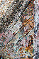 Details on weathered boat hull, Iceland