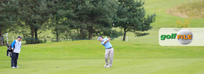 Michael McDermott (IRL) on the 3rd fairwayduring Round 2 of the Northern Ireland Open in Association with Sphere Global &amp; Ulster Bank at Galgorm Castle Golf Club on Friday 7th August 2015.<br /> Picture:  Thos Caffrey / www.golffile.ie