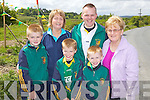 The Cronin family enjoying the unveiling ceremony last Sunday to mark 50yrs of the Gneeveguilla GAA club, pictured l-r: Evan, Aileen, Damien, John, Mark and Ann..