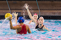 Makenzie FischerSTANFORD, CA -- February 14, 2019. The Stanford Cardinal women's water polo team defeats the Chinese National Team in an exhibition 15-13 at the Avery Aquatic Center.